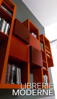 Soggiorni moderni soggiorni porta tv librerie moderne for Librerie componibili moderne
