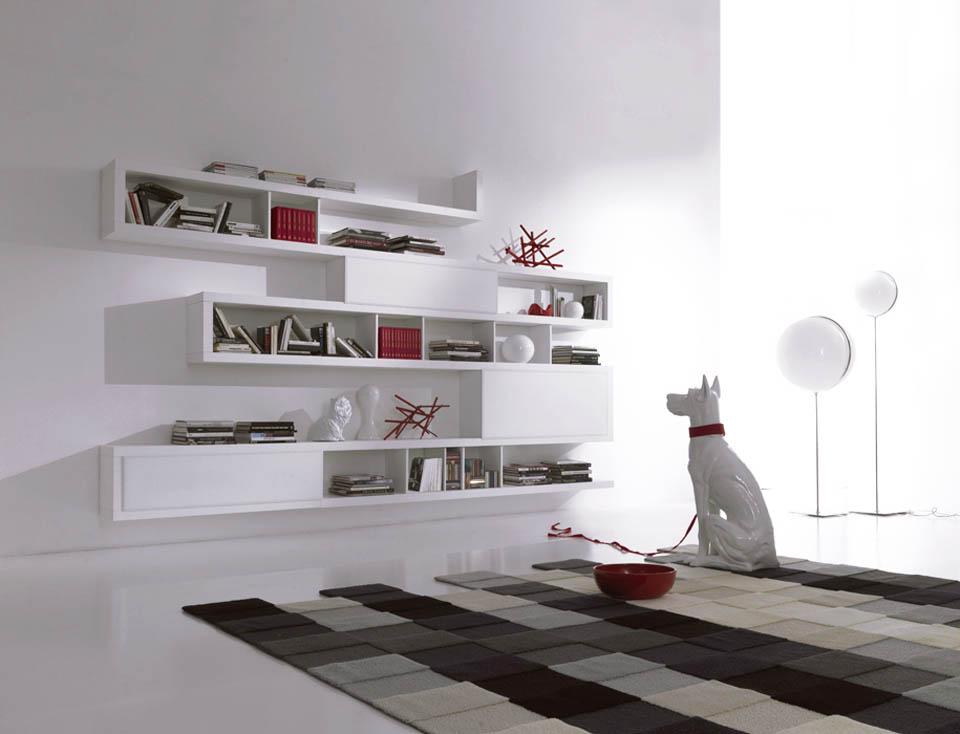Librerie moderne, librerie design, libreria componibile, soggiorni ...