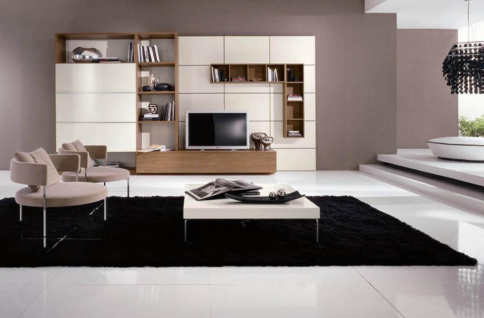 Colori Moderni Per Soggiorno : Soggiorni moderni mobili soggiorno con librerie moderne