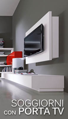 Soggiorni moderni, soggiorni porta tv, librerie moderne, complementi moderni