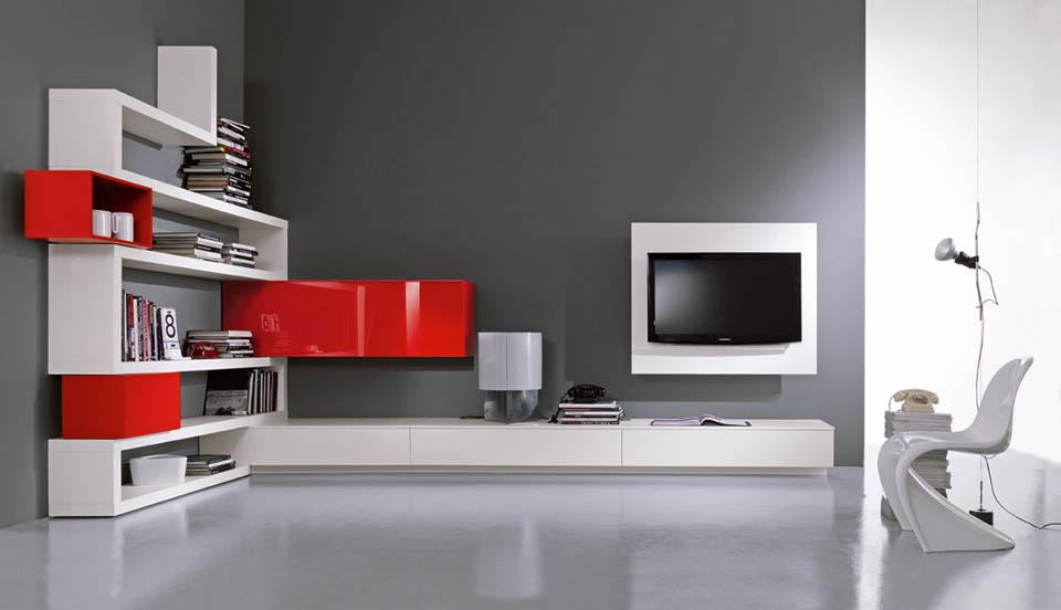 Porta tv moderni soggiorni moderni librerie moderne complementi moderni - Soggiorni ad angolo moderni ...