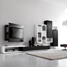 Soggiorni porta tv orientabili e girevoli, mobili con porta tv