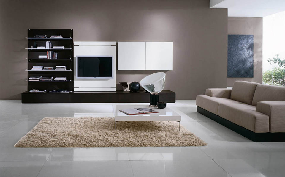 Soggiorno porta tv, soggiorno moderno, tv rack girevole ed orientabile