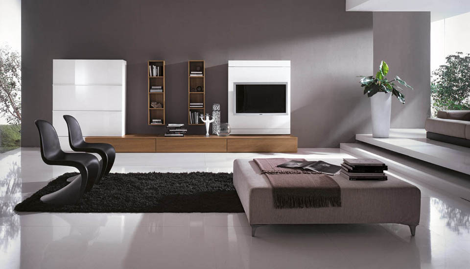Soggiorno porta tv soggiorni moderni con porta televisore - Pannello porta tv orientabile ...